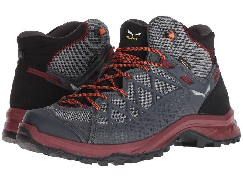 サレワ メンズ ブーツ・レインブーツ シューズ Wild Hiker Mid GORE-TEX Black/Biking Red