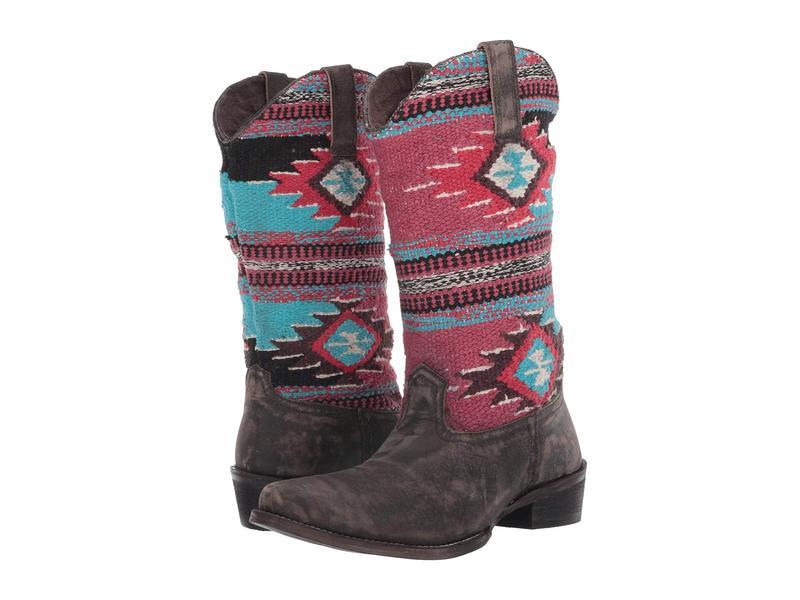 ローパー レディース ブーツ・レインブーツ シューズ Sioux Rub Off Leather/Aztec Blanket