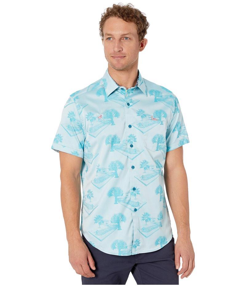 ロバートグラハム メンズ シャツ トップス Pool Party Shirt Aqua