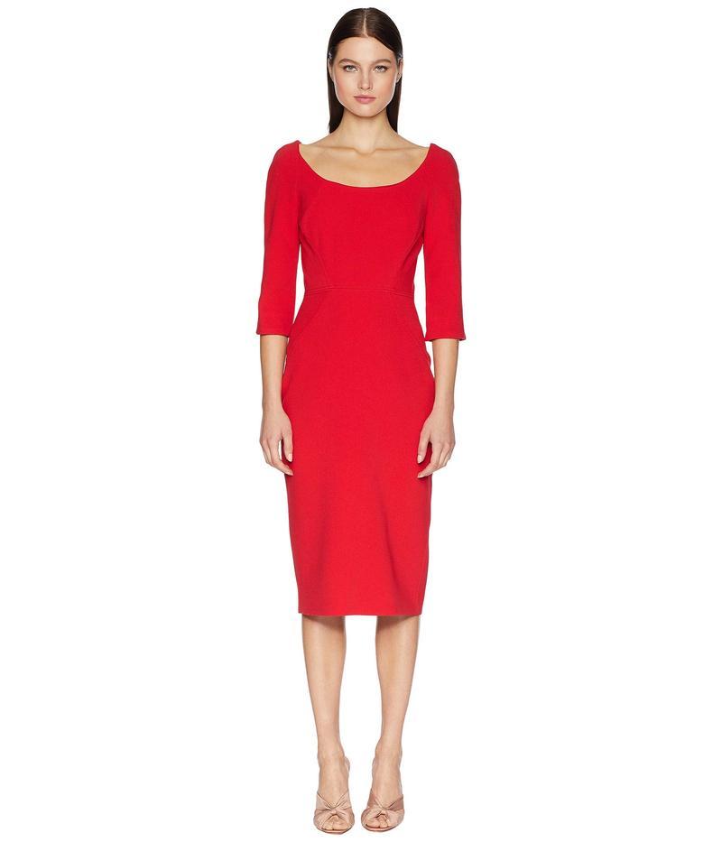 ザックポーゼン レディース ワンピース トップス Long Sleeve Bonded Crepe Dress Cranberry
