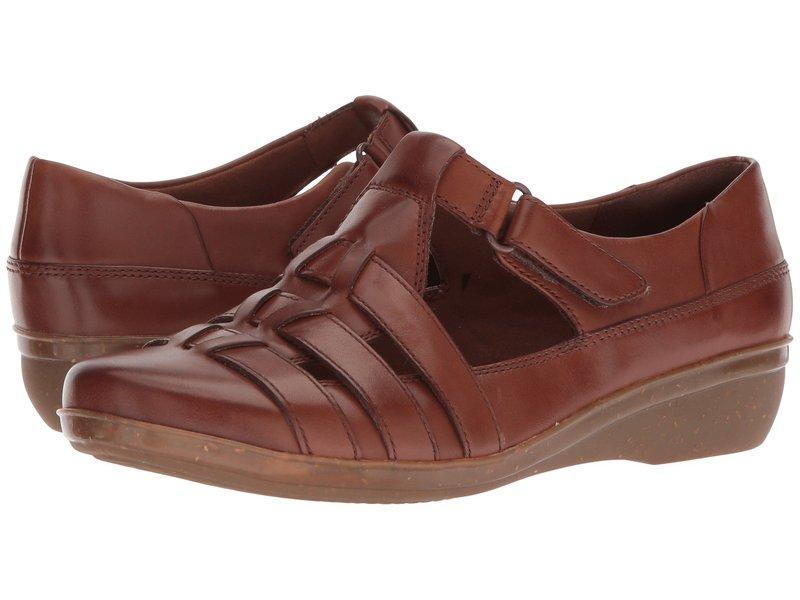 クラークス レディース スリッポン・ローファー シューズ Everlay Cape Dark Tan Leather