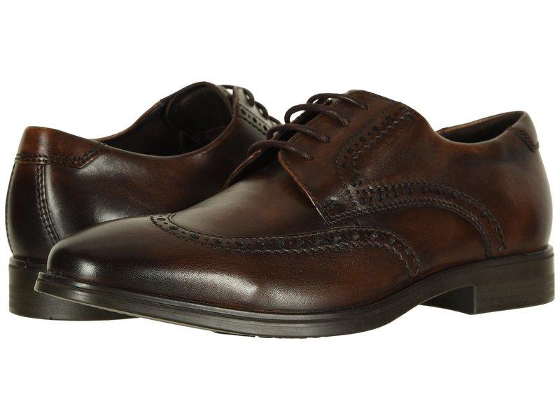エコー メンズ オックスフォード シューズ Melbourne Wingtip Tie Cocoa Brown