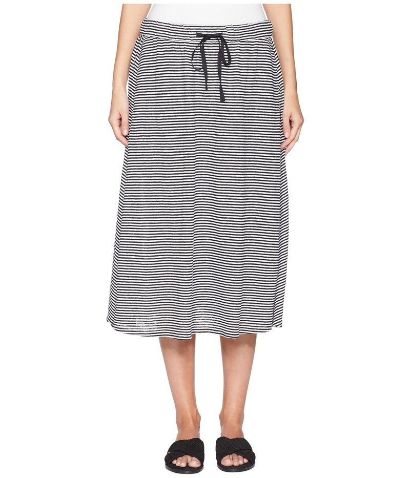 エイリーンフィッシャー レディース スカート ボトムス Flared C/L Skirt Black/White