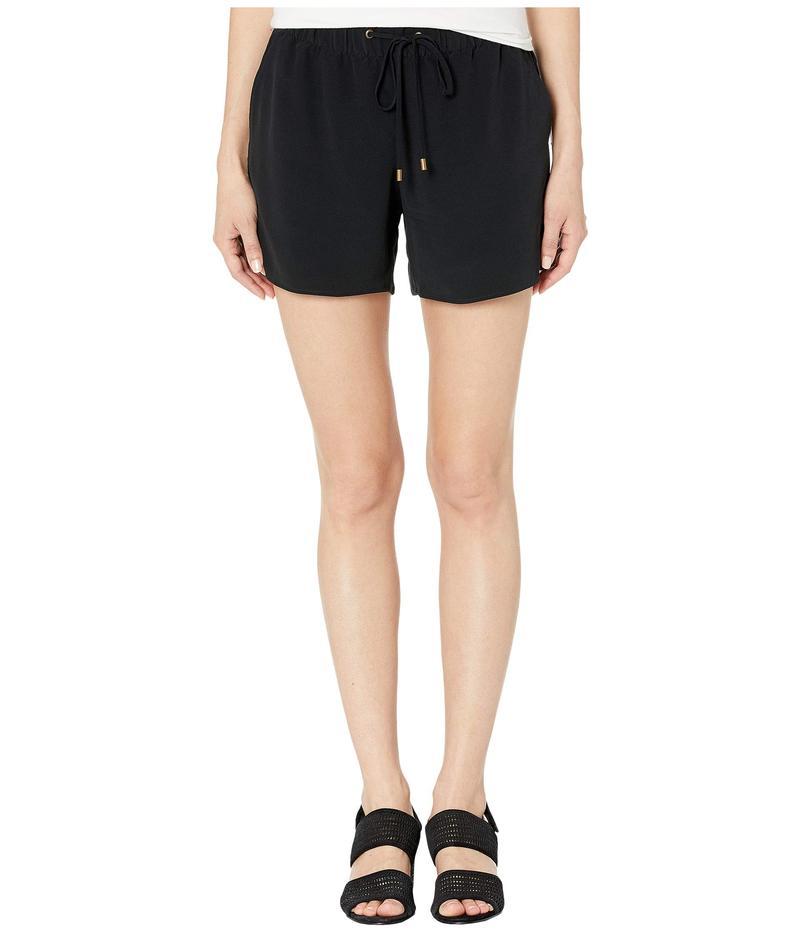 エイリーンフィッシャー レディース ハーフパンツ・ショーツ ボトムス Petite Tencel Viscose Crepe Walking Shorts Black