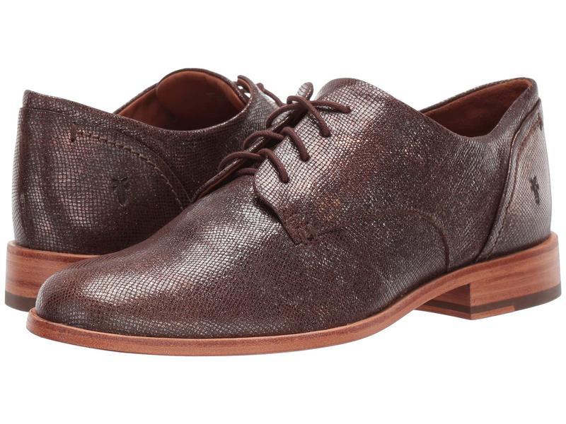 フライ レディース オックスフォード シューズ Elyssa Oxford Multi Metallic Foil Embossed Leather