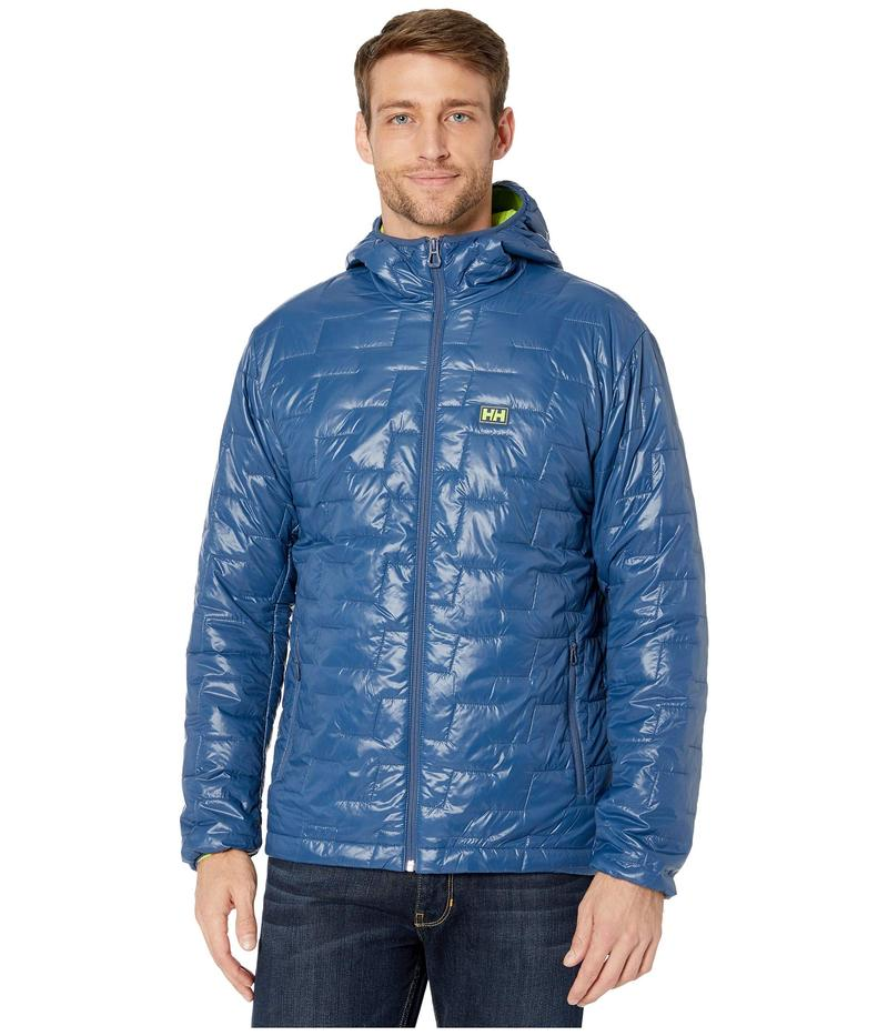 ヘリーハンセン メンズ コート アウター Lifaloft Hooded Insulator Jacket North Sea Blue