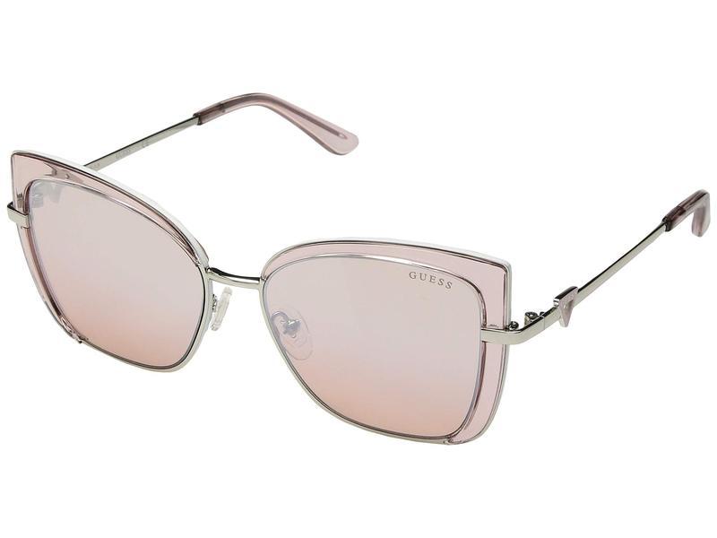 ゲス レディース サングラス・アイウェア アクセサリー GU7633 Shiny Pink/Bordeaux Mirror
