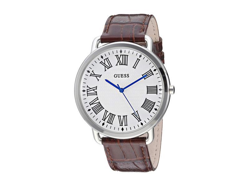 ゲス メンズ 腕時計 アクセサリー U1164G1 Silver/Brown