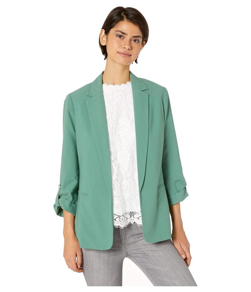 ケンジー レディース コート アウター Stretch Crepe Jacket with Roll Tab Sleeve Detail KS4K2326 Planter Green
