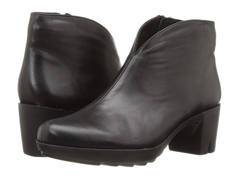 ムンロー レディース ブーツ・レインブーツ シューズ Robynette Black Leather