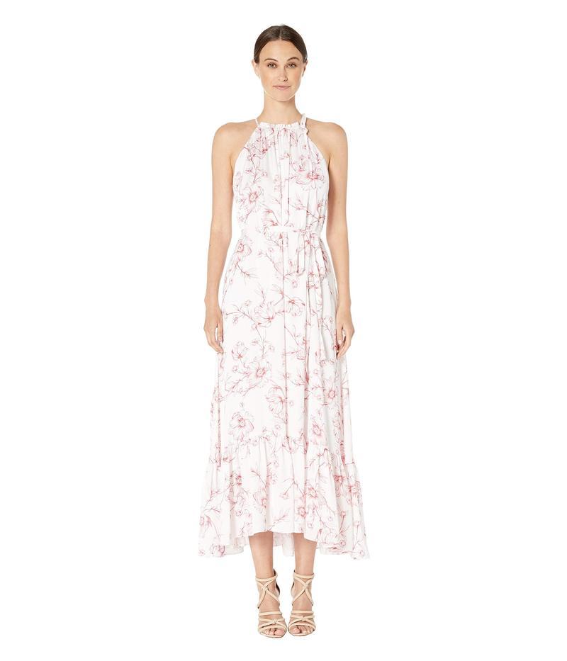 モニーク ルイリエ レディース ワンピース トップス Freesia Floral Print Halter Full-Length Dress White Cayenne