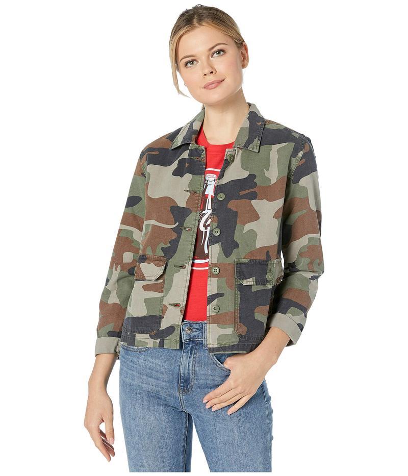 ラッキーブランド レディース コート アウター Utility Shirt Jacket Green Multi