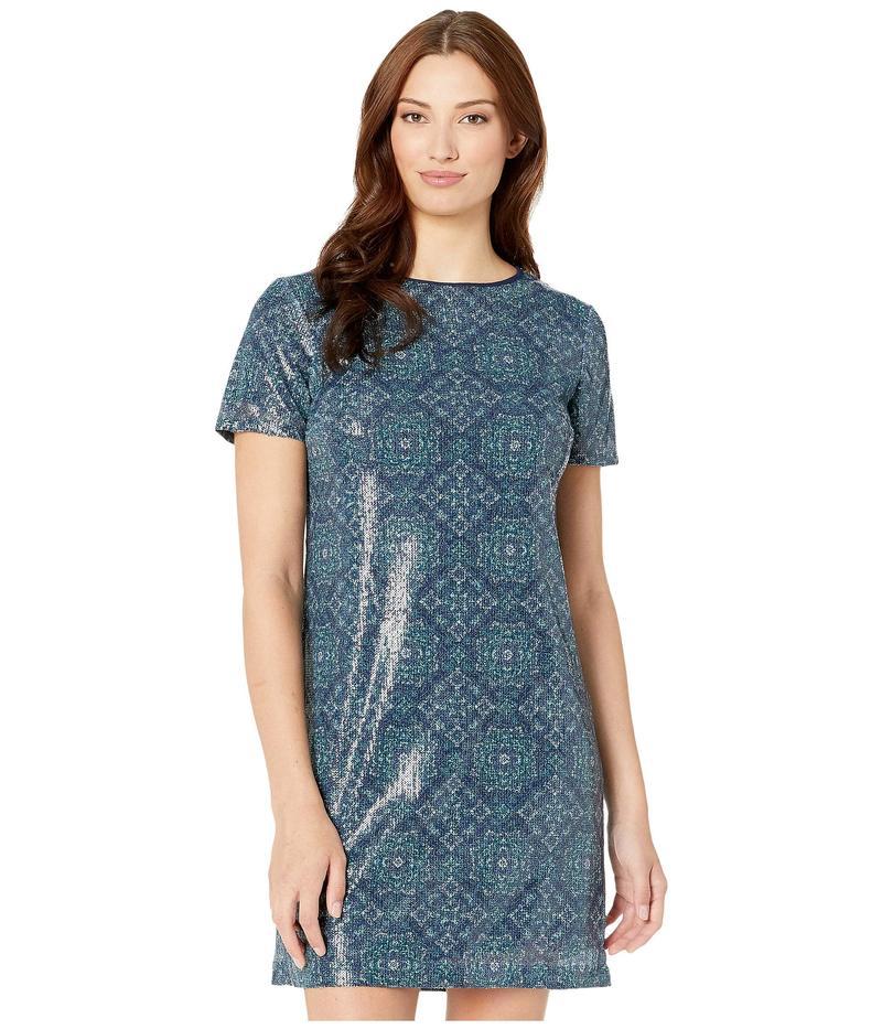 マイケルコース レディース ワンピース トップス Majorelle Medallion Sequin Dress True Navy/Sea Green