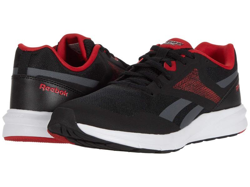 リーボック メンズ スニーカー シューズ Runner 4.0 Black/True Grey/Excellent Red