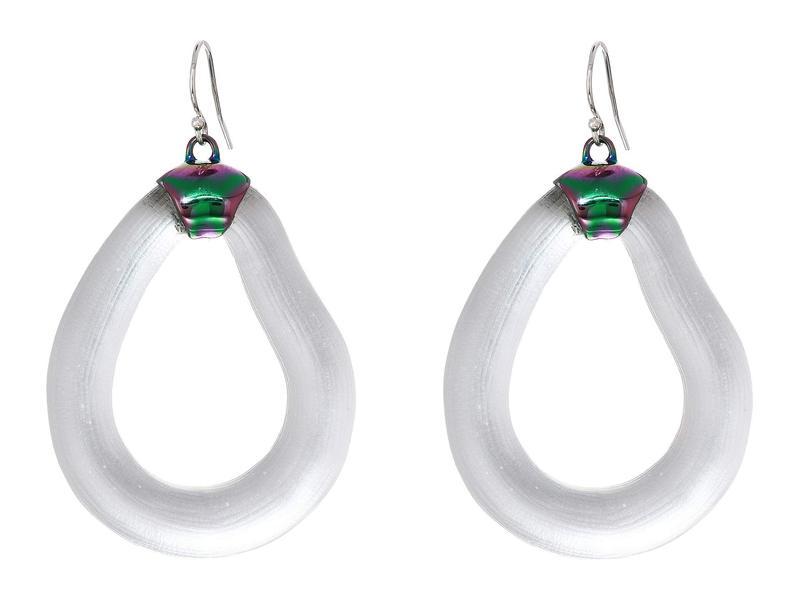 アレクシス ビッター レディース ピアス・イヤリング アクセサリー PVD Organic Link Wire Earrings Silver