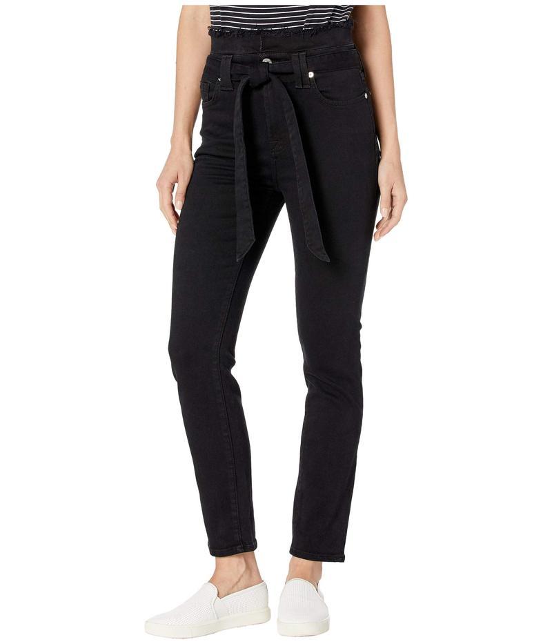 セブンフォーオールマンカインド レディース デニムパンツ ボトムス Paperbag Jeans in Pitch Black Pitch Black