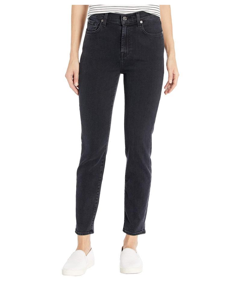 セブンフォーオールマンカインド レディース デニムパンツ ボトムス Luxe Vintage High-Waist Slim Jeans in Moonshadow Moonshadow