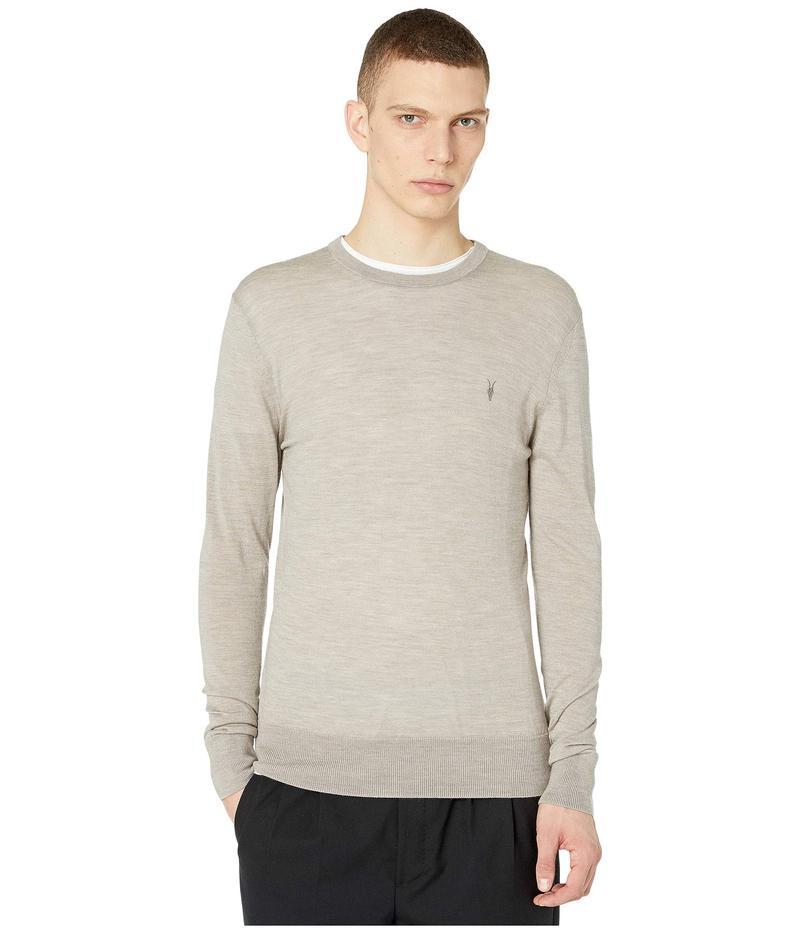 オールセインツ メンズ ニット・セーター アウター Mode Merino Crew Sweater Shale Taupe Marl