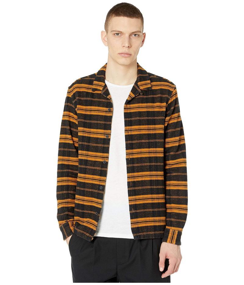 オールセインツ メンズ シャツ トップス Oxbow Long Sleeve Shirt Yellow/Black