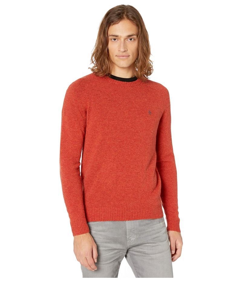 オリジナルペンギン メンズ ニット・セーター アウター Lambswool Crew Neck Long Sleeve Sweater Ketchup