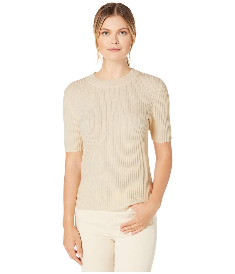 ペンドルトン レディース ニット・セーター アウター Short Sleeve Merino Rib Pullover Antique White