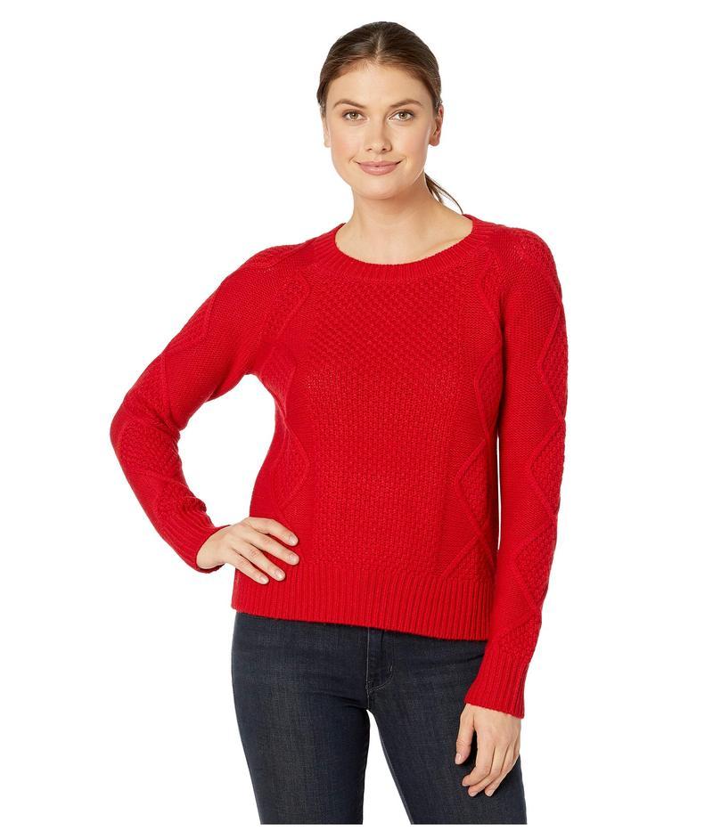 ペンドルトン レディース ニット・セーター アウター Diamond Cable Crew Sweater Cherry Red