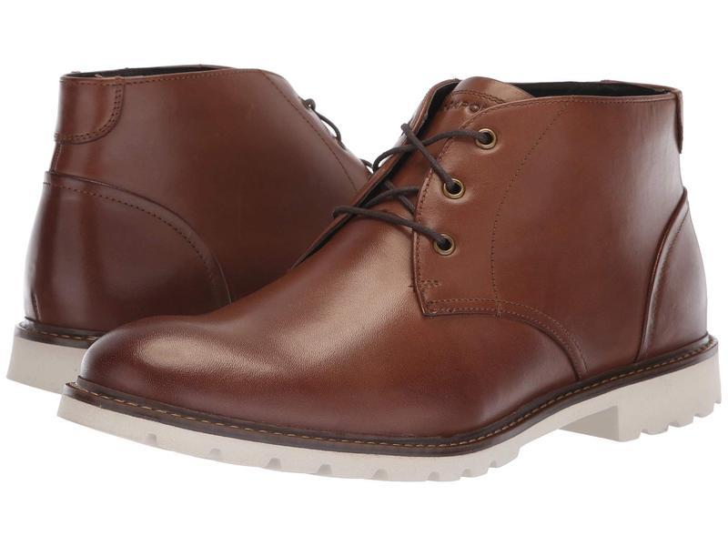 ロックポート メンズ ブーツ・レインブーツ シューズ Sharp and Ready Chukka Brown Leather