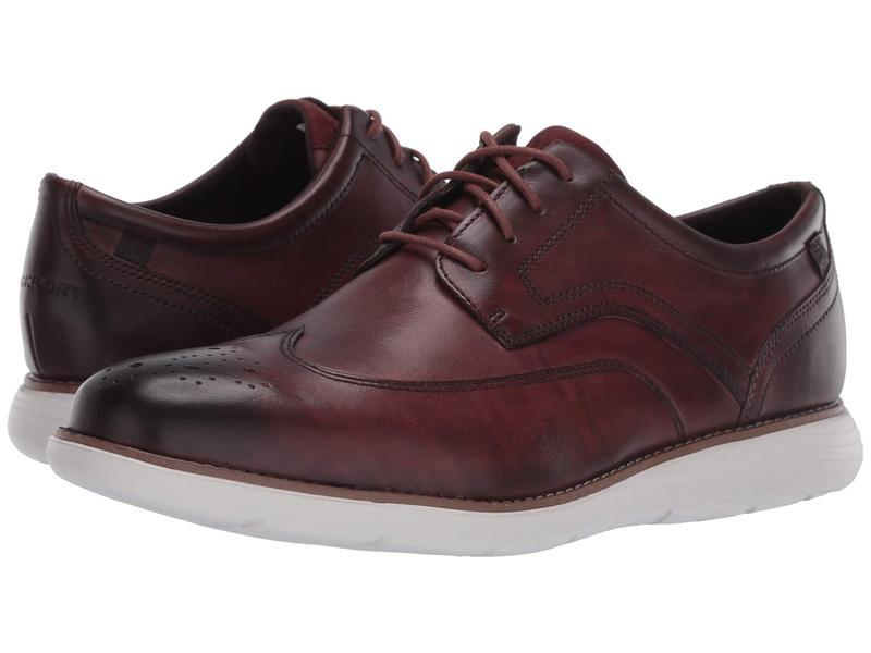 ロックポート メンズ オックスフォード シューズ Garett Wing Tip Burgundy Leather