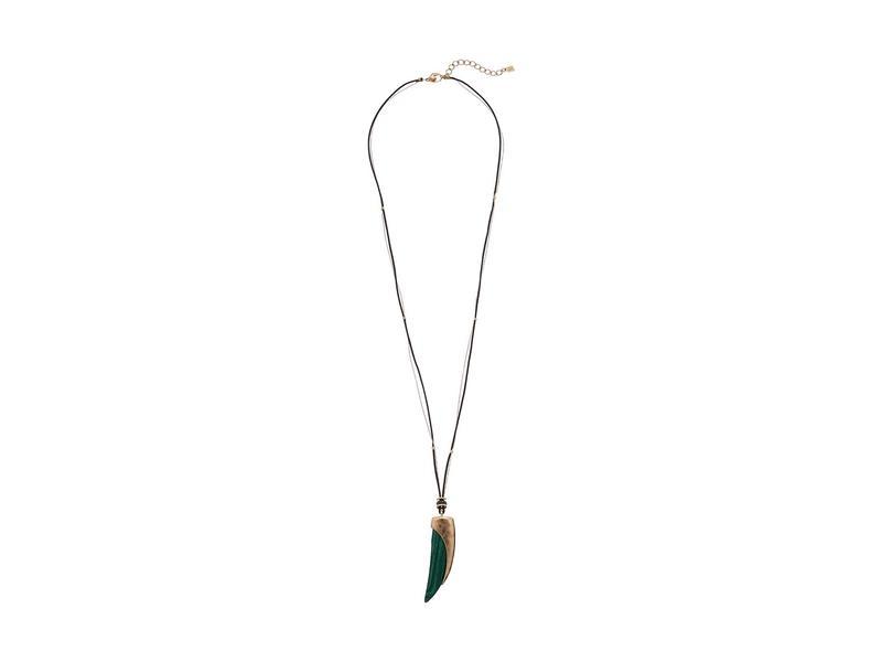 ロバートリーモリス レディース ネックレス・チョーカー・ペンダントトップ アクセサリー Horn Pendant Necklace Green
