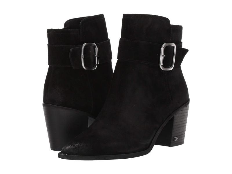 サムエデルマン レディース ブーツ・レインブーツ シューズ Leonia Black Velutto Suede Leather