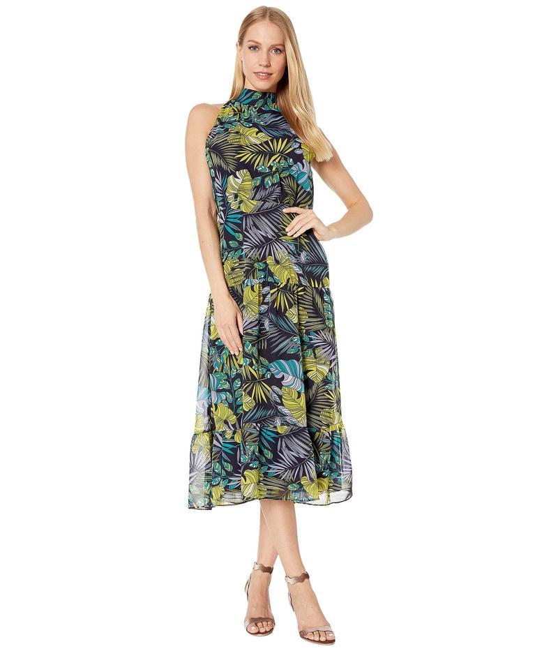サムエデルマン レディース ワンピース トップス Tropical High Neck Maxi Dress Green Multi