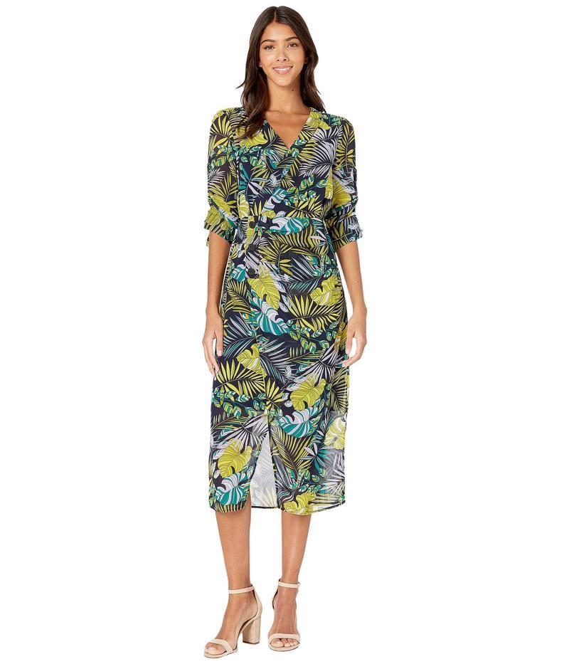 サムエデルマン レディース ワンピース トップス Tropical Side Drape Maxi Dress Green Multi