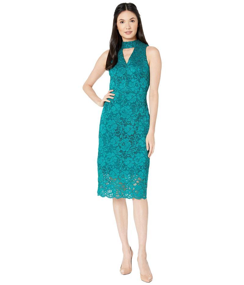 サムエデルマン レディース ワンピース トップス Keyhole Lace Choker Dress Teal