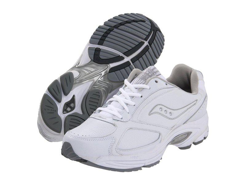 サッカニー メンズ スニーカー シューズ Grid Omni Walker White/Silver