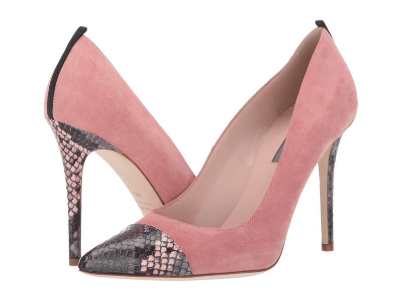 エスジェイピーバイサラジェシカパーカー レディース ヒール シューズ Clarice Pink Suede/Grey/Pink Snake Print
