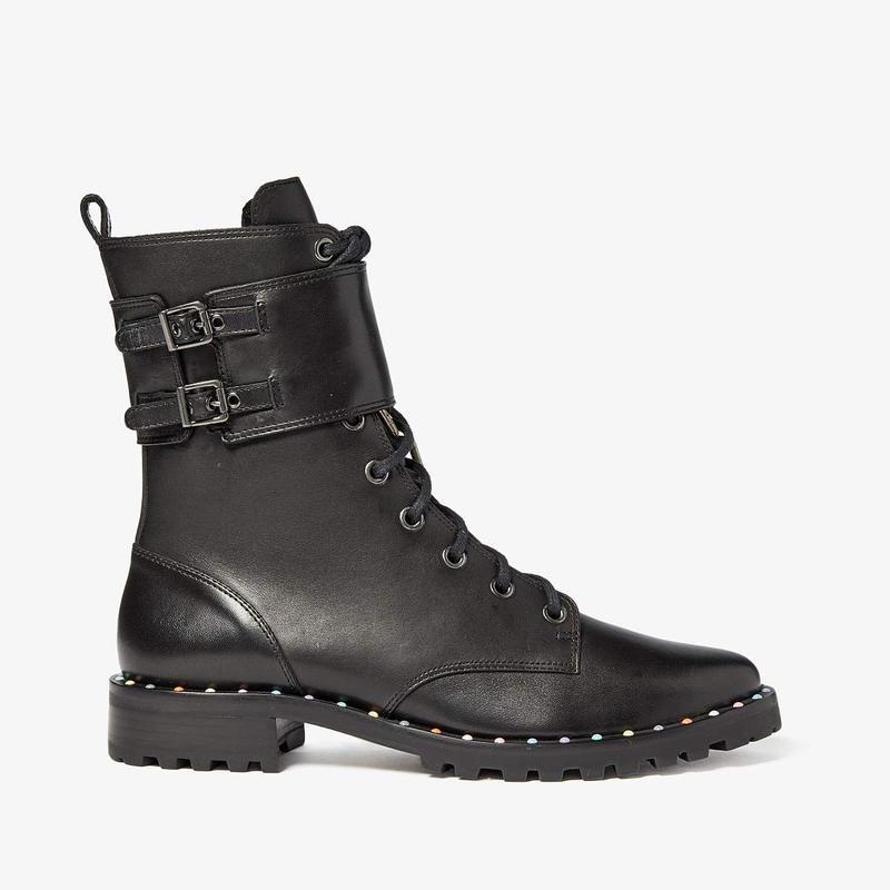 ソフィアウェブスター レディース ブーツ・レインブーツ シューズ Bessie Combat Boot Black