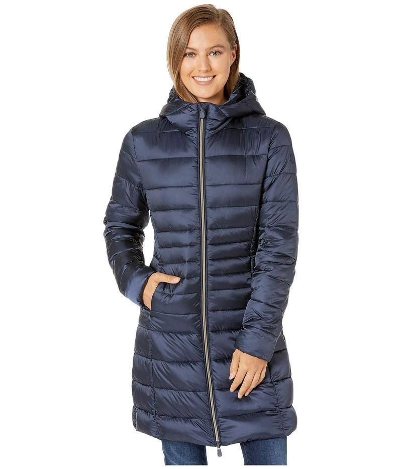 セイブ ザ ダック レディース コート アウター Iris 9 Hooded Puffer Coat Blue/Black