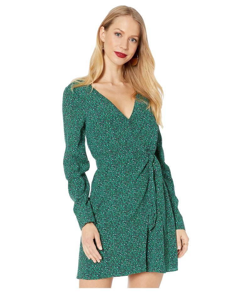 サンクチュアリー レディース ワンピース トップス Stay The Night Wrap Dress Mini Emerald Leo