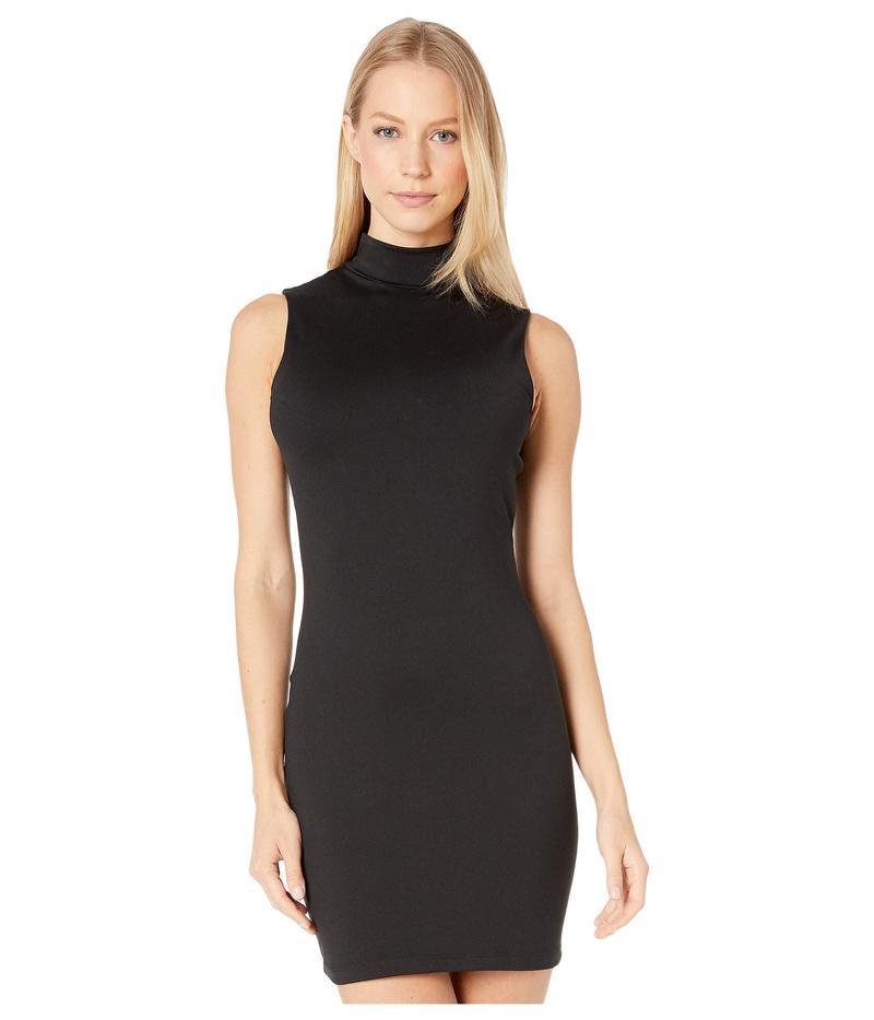 スサナモナコ レディース ワンピース トップス Sleeveless Mock Neck Mini Dress Black