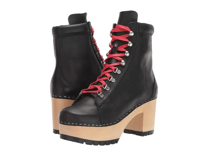 スウェディッシュハズビーンズ レディース ブーツ・レインブーツ シューズ Hiking Boot Black