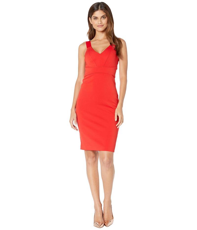 テッドベーカー レディース ワンピース トップス Trixxie Paneled Bodycon Dress Red