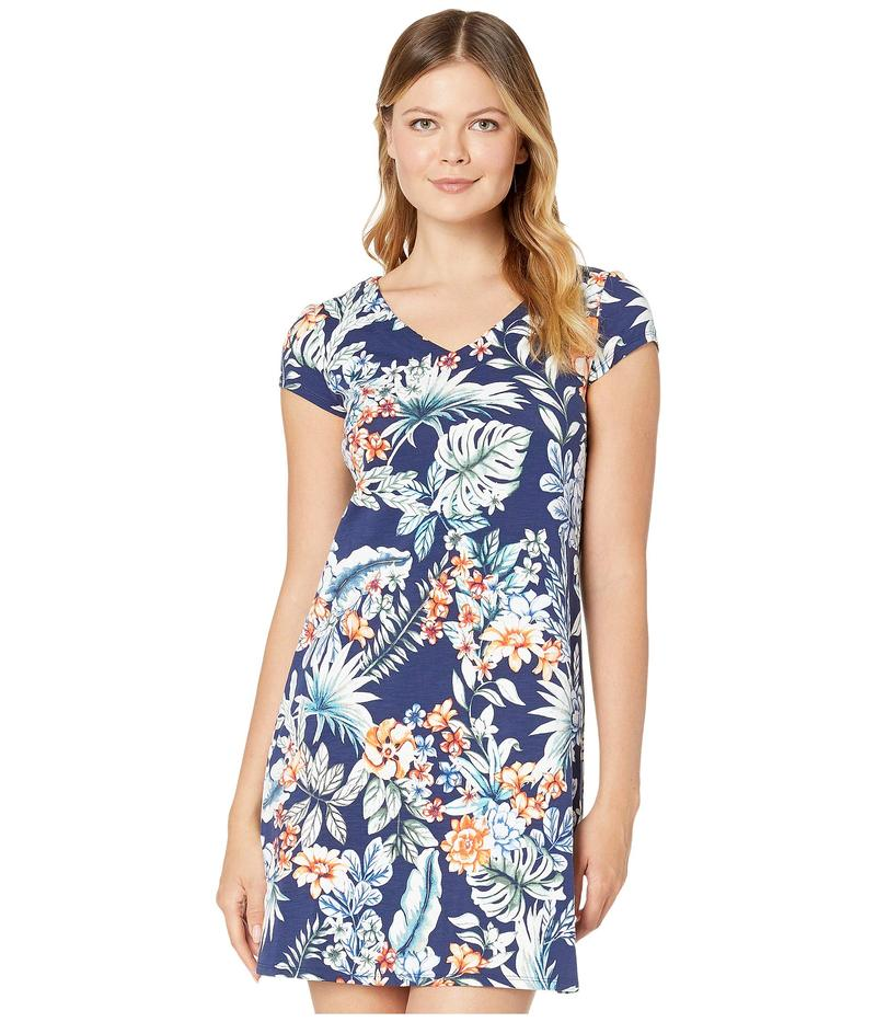 トッミーバハマ レディース ワンピース トップス Resort Blooms Short Sleeve Short Dress Island Navy