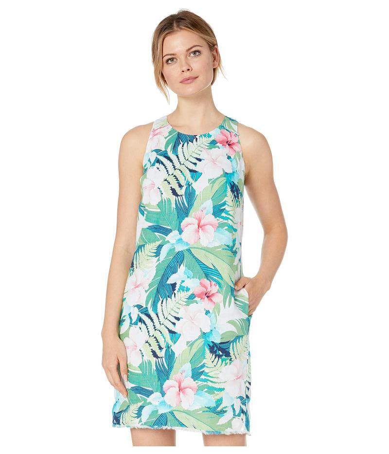 トッミーバハマ レディース ワンピース トップス Hibiscus Hues Sleeveless Shift Dress Bright Palm Green