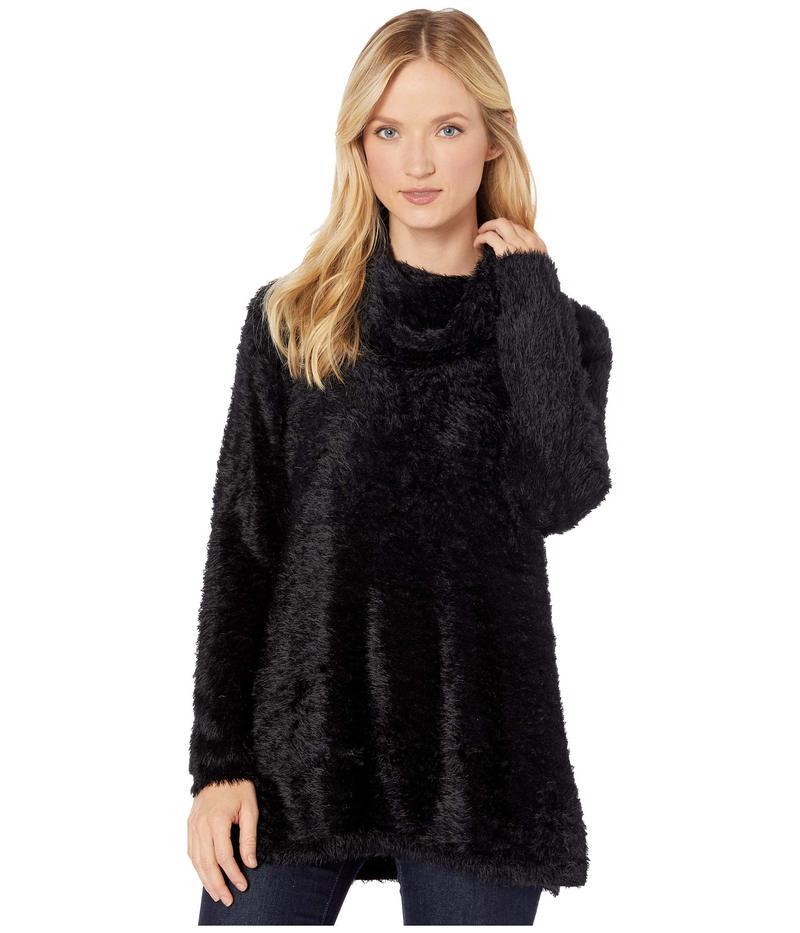トリバル レディース ニット・セーター アウター Long Sleeve Cowl Neck Sweater Black