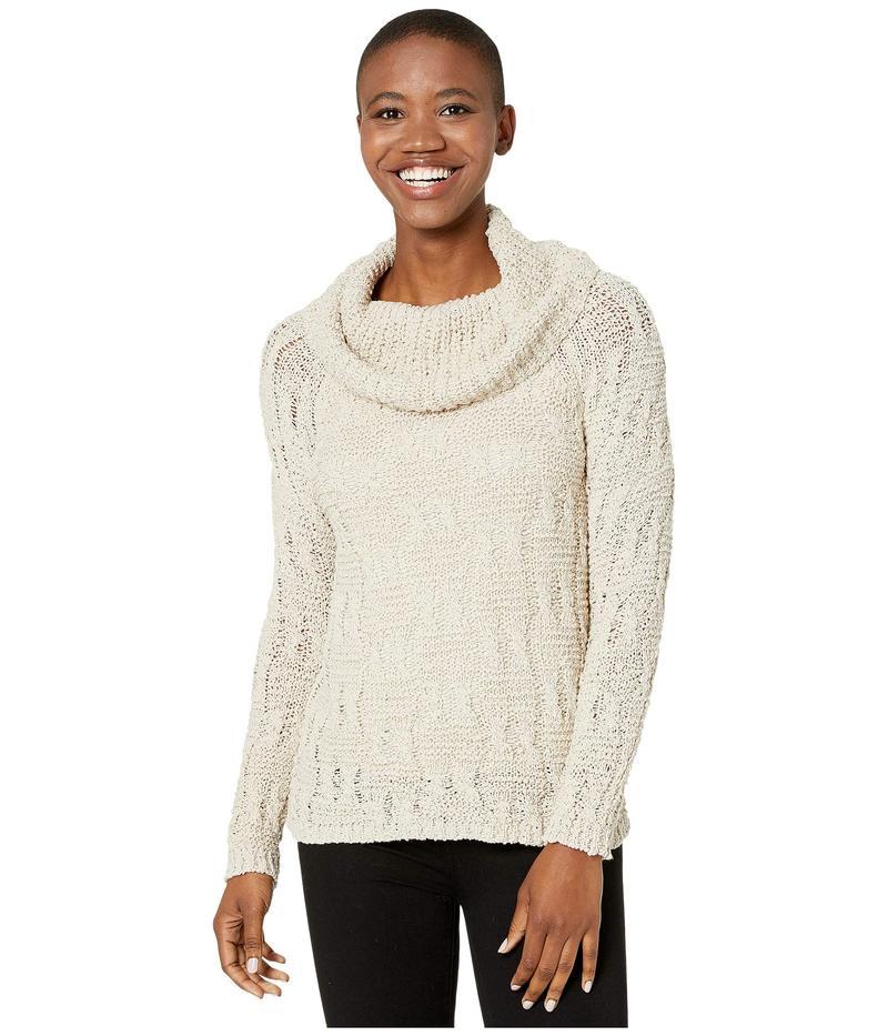 トリバル レディース ニット・セーター アウター Long Sleeve Cowl Neck Sweater Oatmeal