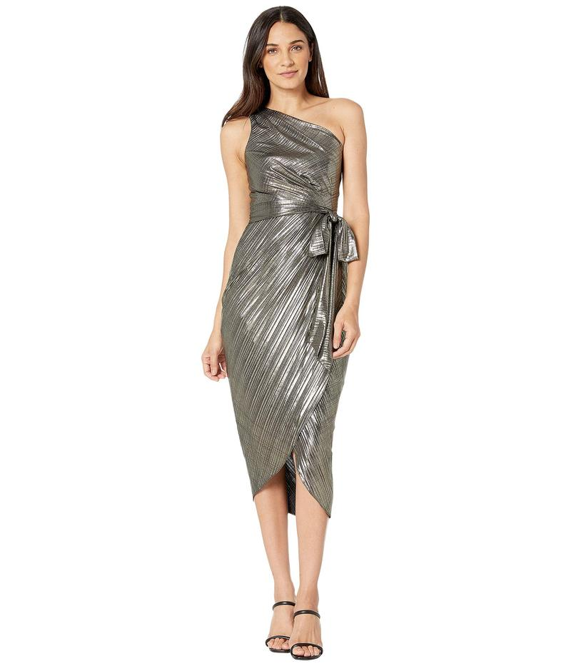 テッドベーカー レディース ワンピース トップス Gabria One Shoulder Drape Midi Dress Gold