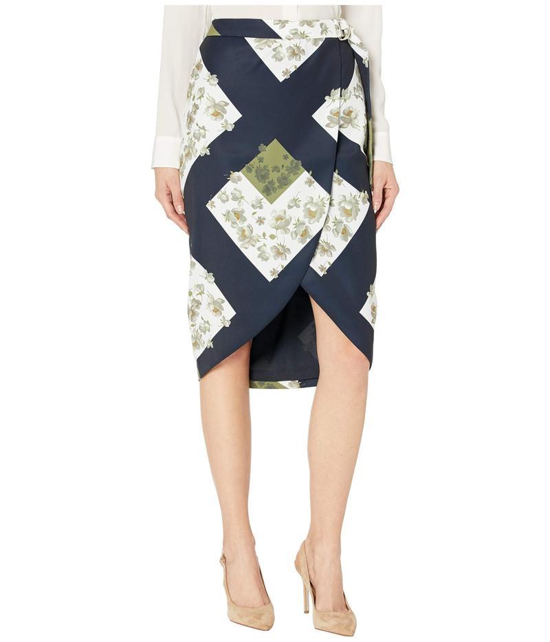 テッドベーカー レディース スカート ボトムス Saphirr Pearl Printed Wrap Skirt Ivory
