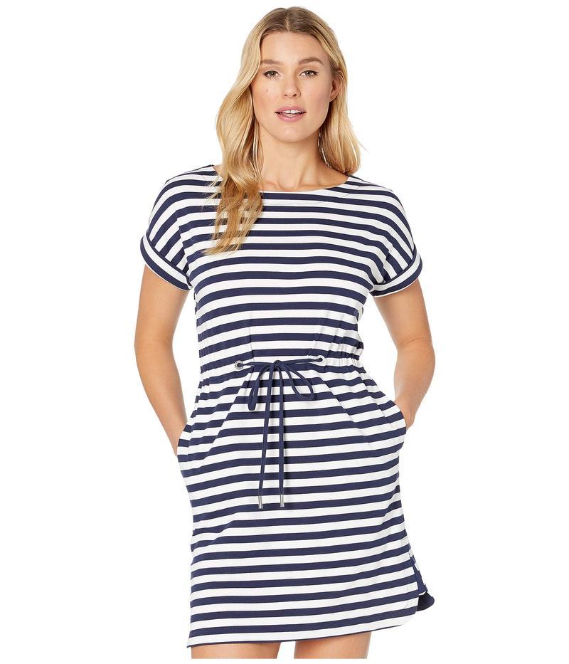 トッミーバハマ レディース ワンピース トップス Amira Stripe Short Sleeve Dress Island Navy