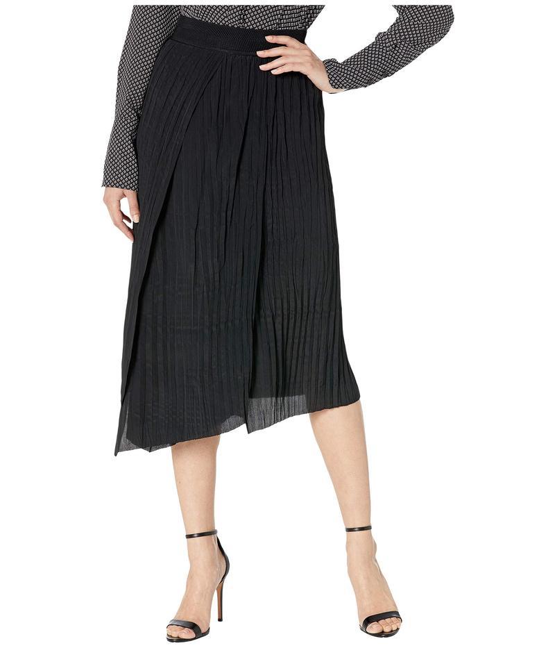 ヴィンス レディース スカート ボトムス Crinkle Pleated Skirt Black