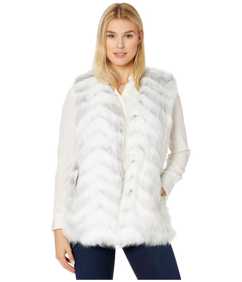 ヴィアスピガ レディース コート アウター Multi Faux Fur Vest White Zebra